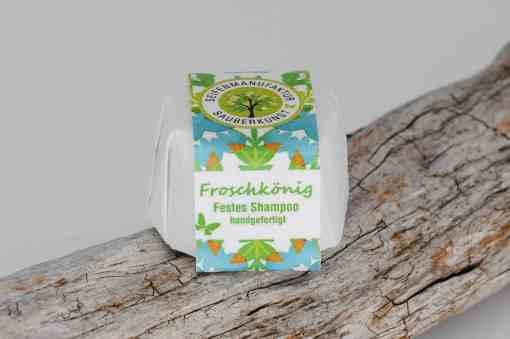 Festes Shampoo Froschkönig von Sauberkunst Seifenmanufaktur