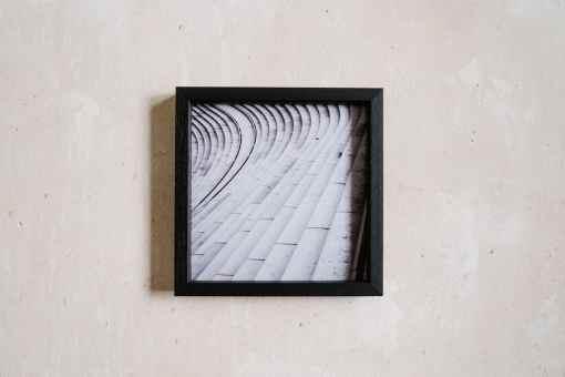 Schwarzer Bilderrahmen aus Holz 20x20 cm