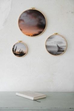 Stoffdruck im Stickrahmen von Nicole Siemers, atelier.91
