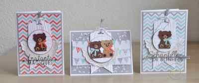 Cartes félicitations de naissance foxy friend punch art perforatrice renard par Marie Meyer Stampin up - http://ateliers-scrapbooking.fr/ - Fox Builder punch - Fuchs Elementstanze