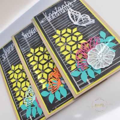 Cartes de remerciements Framelits Divers à superposer et Thinlits En mouvement par Marie Meyer Stampin up - http://ateliers-scrapbooking.fr/ - Thank you Cards - Electric Layers Thinlits - Danke Karten - Thinlits Kreative Vielvalt