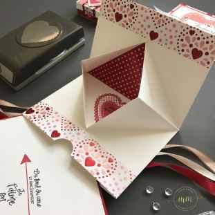 Carte portefeuille Saint Valentin Papier Design Du fond du coeur 2020 4