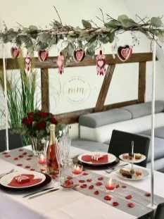 Décoration de table Saint Valentin Gite Alice Spa Jacuzzi Neuve Eglise 2020 1