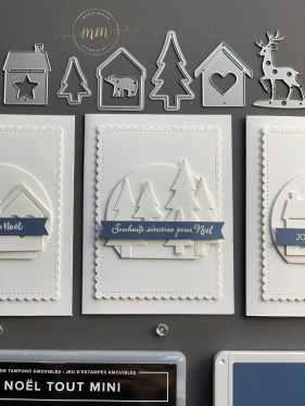 Cartes de Noël Ensemble à la Maison