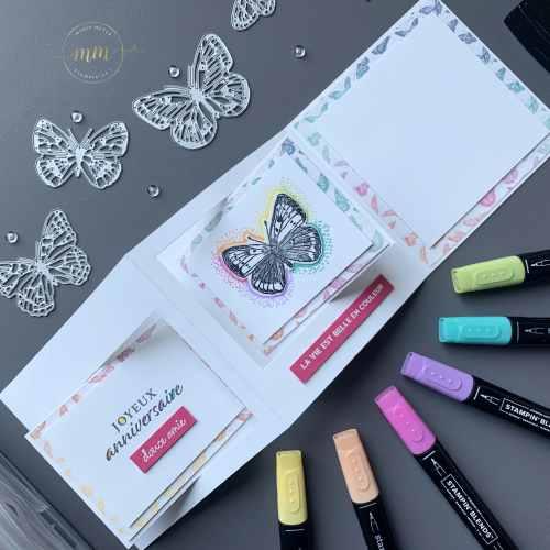 Carte double battants Papillon Butterfly Brillance 2021 10