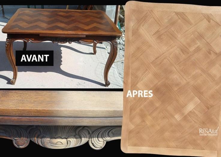 Table et sa marqueterie - Ateliers Renard