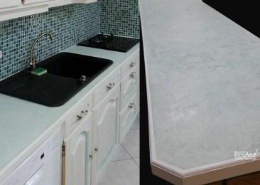 Béton vert clair - Plan de travail de cuisine - Ateliers Renard