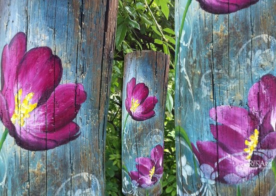 Décor fleur - Bougie - Ateliers Renard
