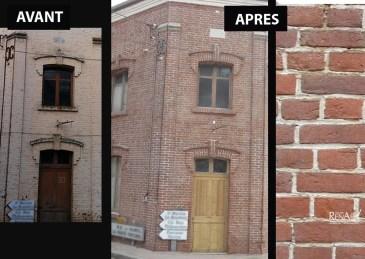 Façade de maison en brique - Ateliers Renard