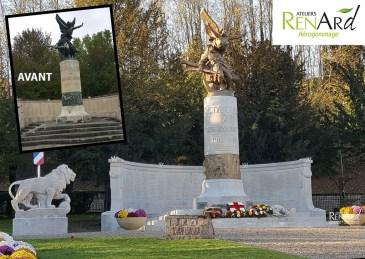 Décapage monument aux morts