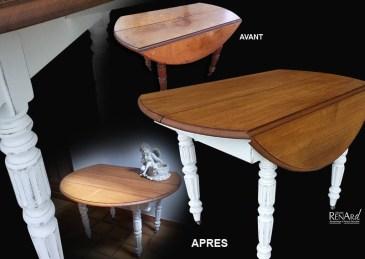 Table ronde en chêne - Ateliers Renard