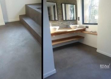 Sol de salle de bain - Ateliers Renard