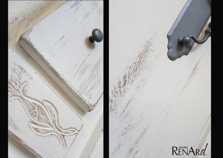 patine usée meuble en chêne