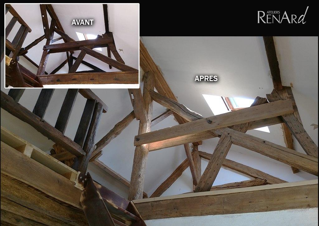 comment eclaircir des poutres anciennes les docks du. Black Bedroom Furniture Sets. Home Design Ideas