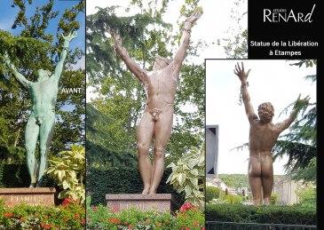 aerogommage-decapage-metal-monument-liberation-etampes1-ateliers-renard