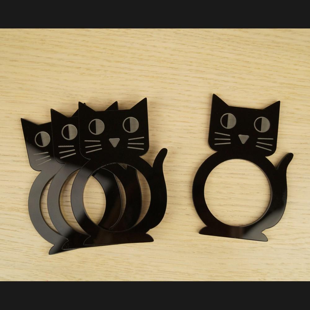 ronds de serviette chats atelier thorey atelier thorey. Black Bedroom Furniture Sets. Home Design Ideas