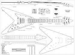 Plan de guitare Electrique flying