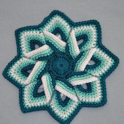 1504a pannenlap in groen en wit