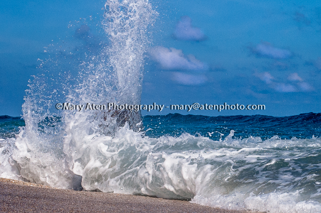 Wave Photo Big Wave Splashing Against A Piling Mary