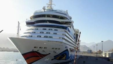 صورة مسندم في عين السياحة… وسفينة عالمية تزورها