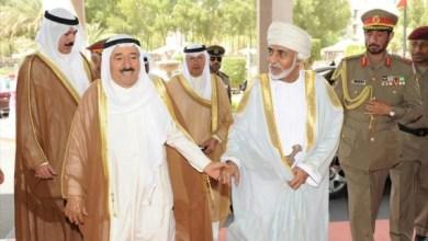 صورة جلالة السلطان يهنئ أمير الكويت