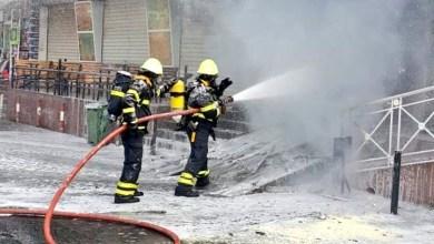 Photo of  إصابة شخصين في حريق بالوادي الكبير