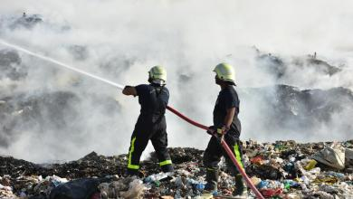 صورة بالصور: حريق في مردم نفايات بالعامرات