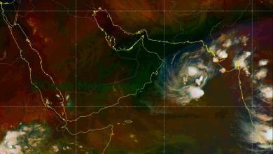 صورة تحديث جديد للحالة المدارية في بحر العرب