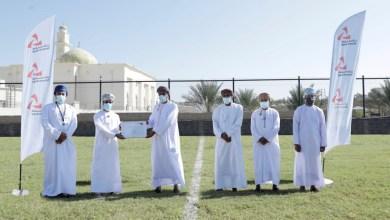 """صورة ضمن """"الملاعب الخضراء"""": بنك مسقط يفتتح الملعب المعشب لفريق الخوض الرياضي"""