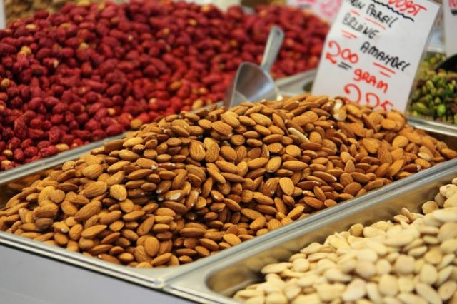 Food Almond Fresh Brown Close Up Dry Healthy