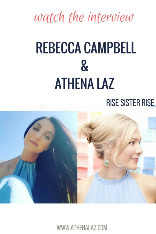 Rebecca Campbell & Athena Laz chat about intuition , meditation and hearing the call to rise.