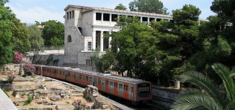 Stoa of Attalos in the way from Thiseio to Monastiraki