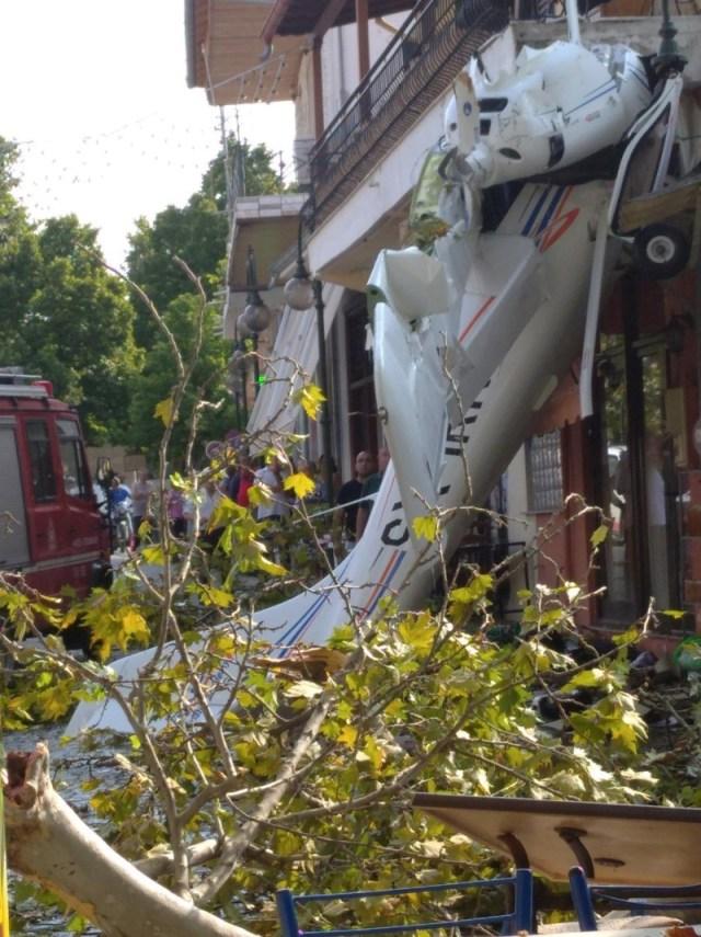 Πτώση αεροπλάνου σε χωριό των Σερρών