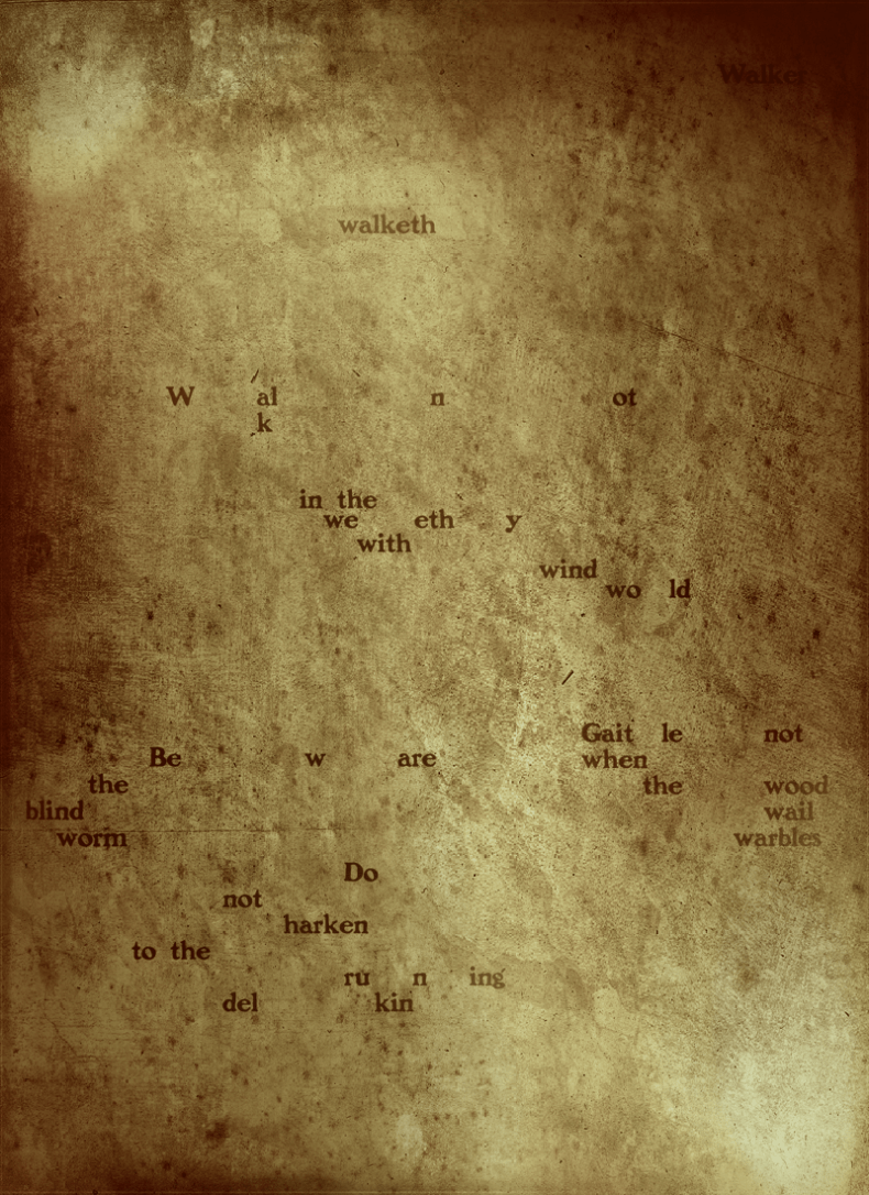 Ezabell Walker Chapbook Page One