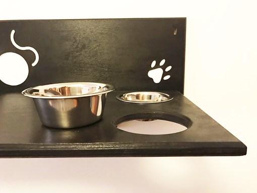 Mensola per gatti con 4 ciotole