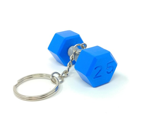 Dumbbell Crossfit Keychain Sports Accessory Decoration Bodybuilding Powerlifting Gift