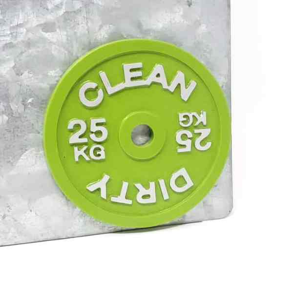 Barbell Clean Dirty Dishwasher Magnet Kitchen Functional Decor Crossfit Powerlifting Bodybuilding Weightlifting 25kg