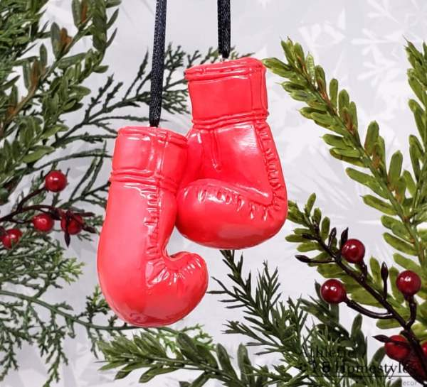 Boxing Glove Christmas Ornament UFC Mixed Martial Arts Boxer Fighting Sports Decoration