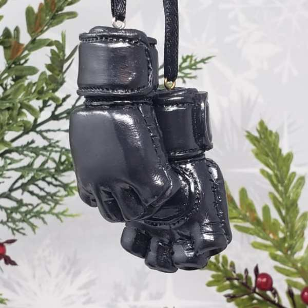 MMA Glove Christmas Ornament Car Mirror Charm UFC Ultimate Fighter Decoration Gift Mixed Martial Arts