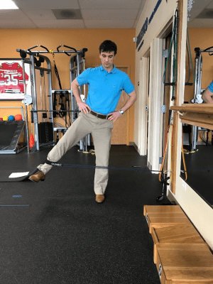 golf off season training standing hip abduction