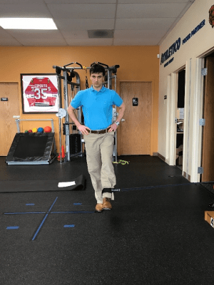 golf off season training standing hip adduction