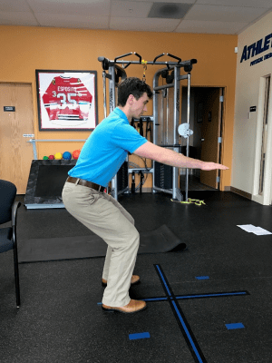golf off season training static front squat