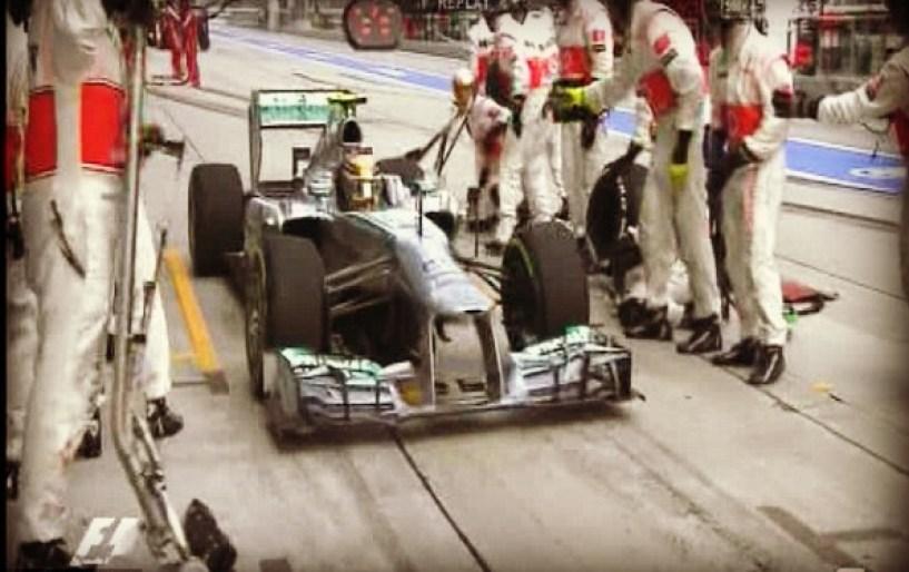 Hamilton's fail pit stop
