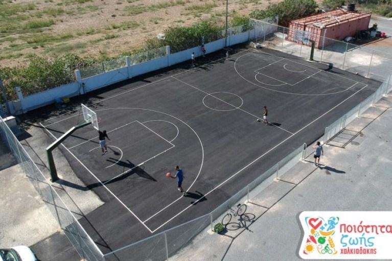 Ένα γήπεδο μπάσκετ για τους εργαζόμενους των S/M Χαλκιαδάκης!