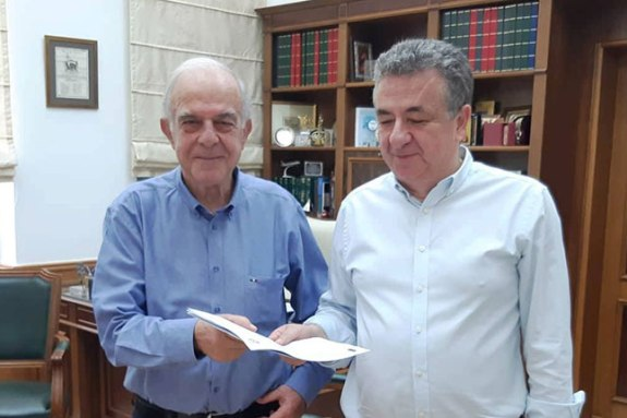 """Συνάντηση Λαμπρινού – Αρναουτάκη για το αεροδρόμιο """"Ν. Καζαντζάκης"""""""
