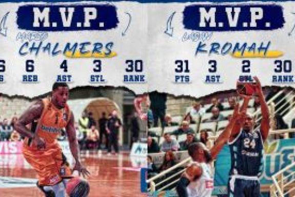 Basket League: Τσάλμερς και Κρομά οι MVP της 18ης αγωνιστικής