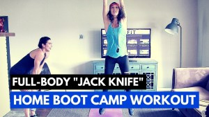 """Jack Knife"" 12 min Full Body Workout - Home Boot Camp Series"