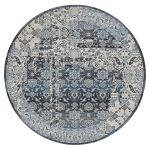 A440 Ainsworth Round Rug 8 Blue At Home