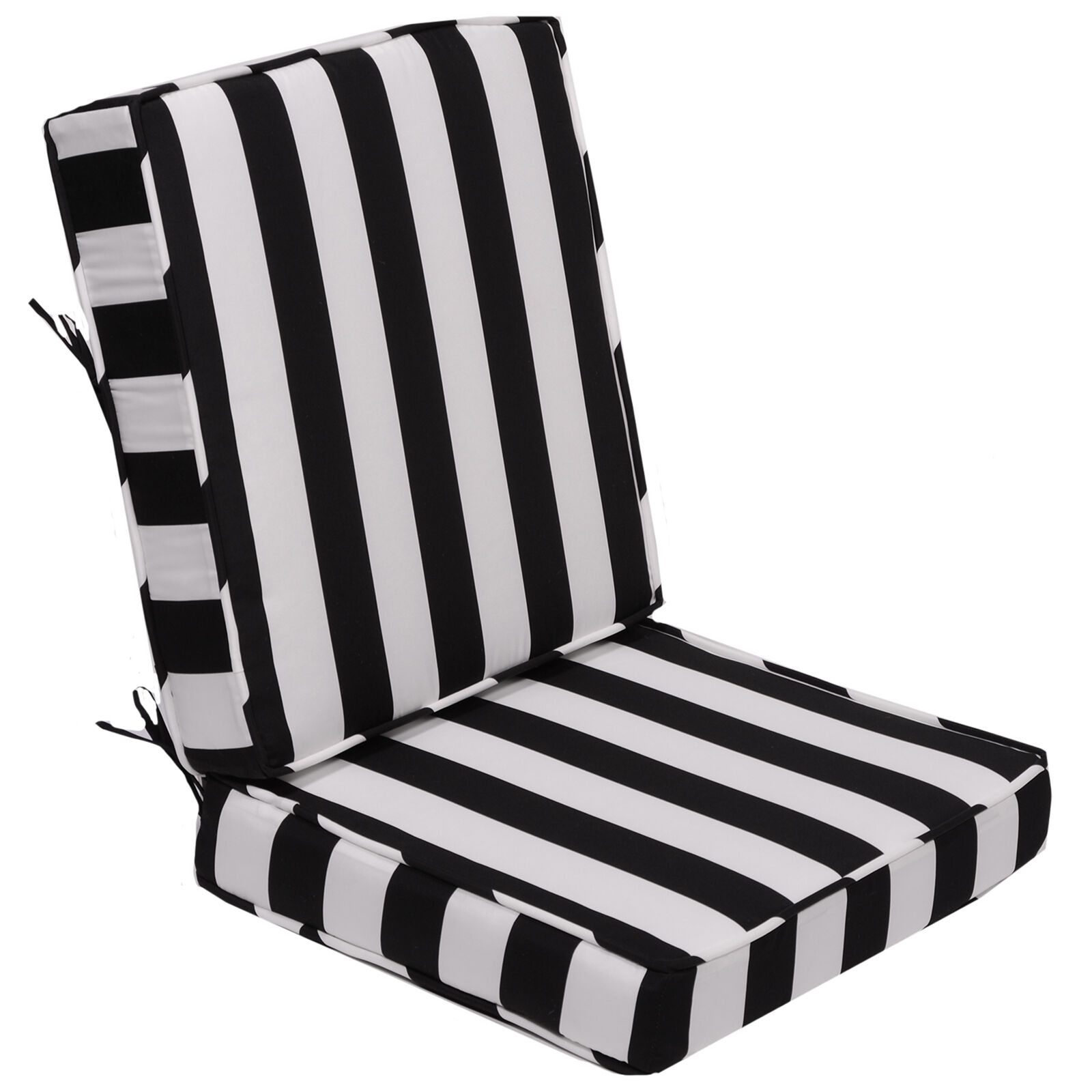 black and white striped chair cushions for patio chair Black And White Striped Outdoor Seat Cushions id=94930