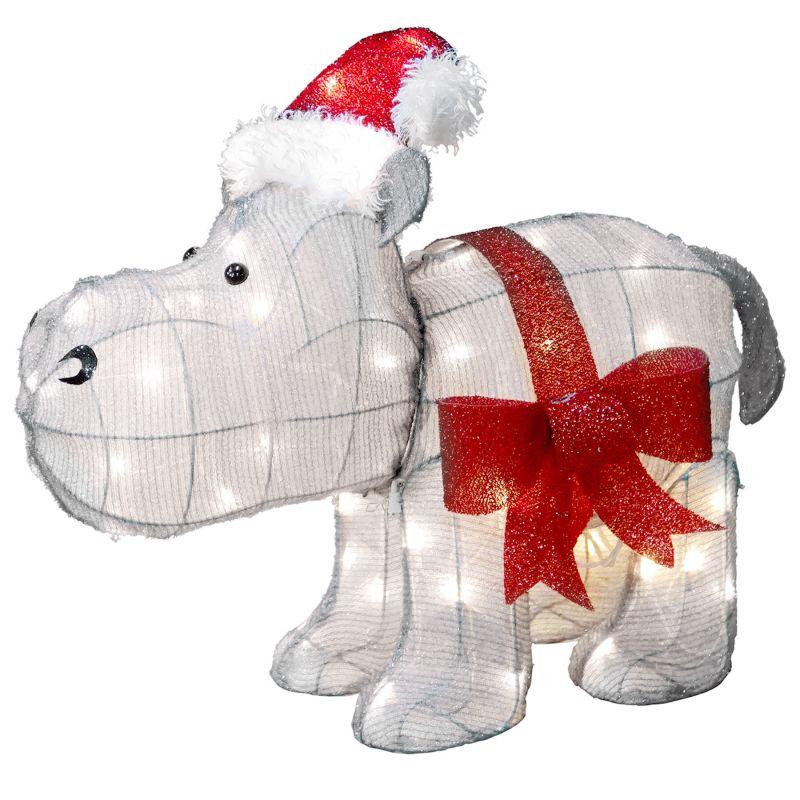 23in Hippo W Santa Hat